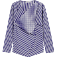 Cai_Navy_and_White_Striped_Shirt_LS0112I