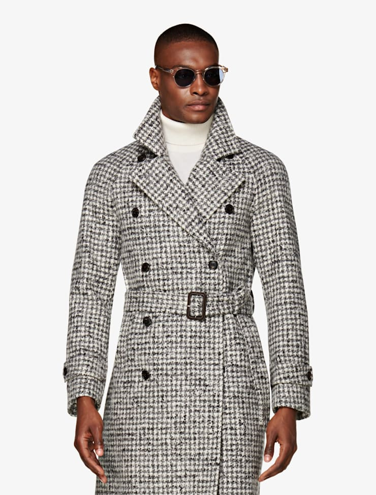 einen lässig Outfit Mantel kombinierst Wie Du Karo rdshtQ
