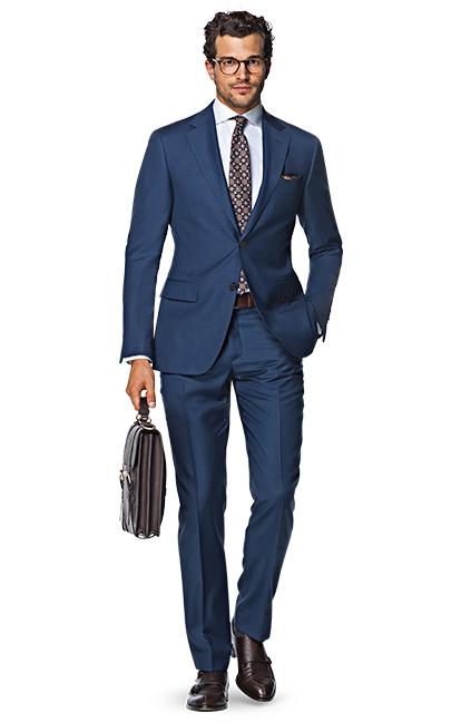 Napoli Blue Plain Suit